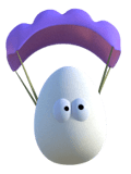 eggs parachuting